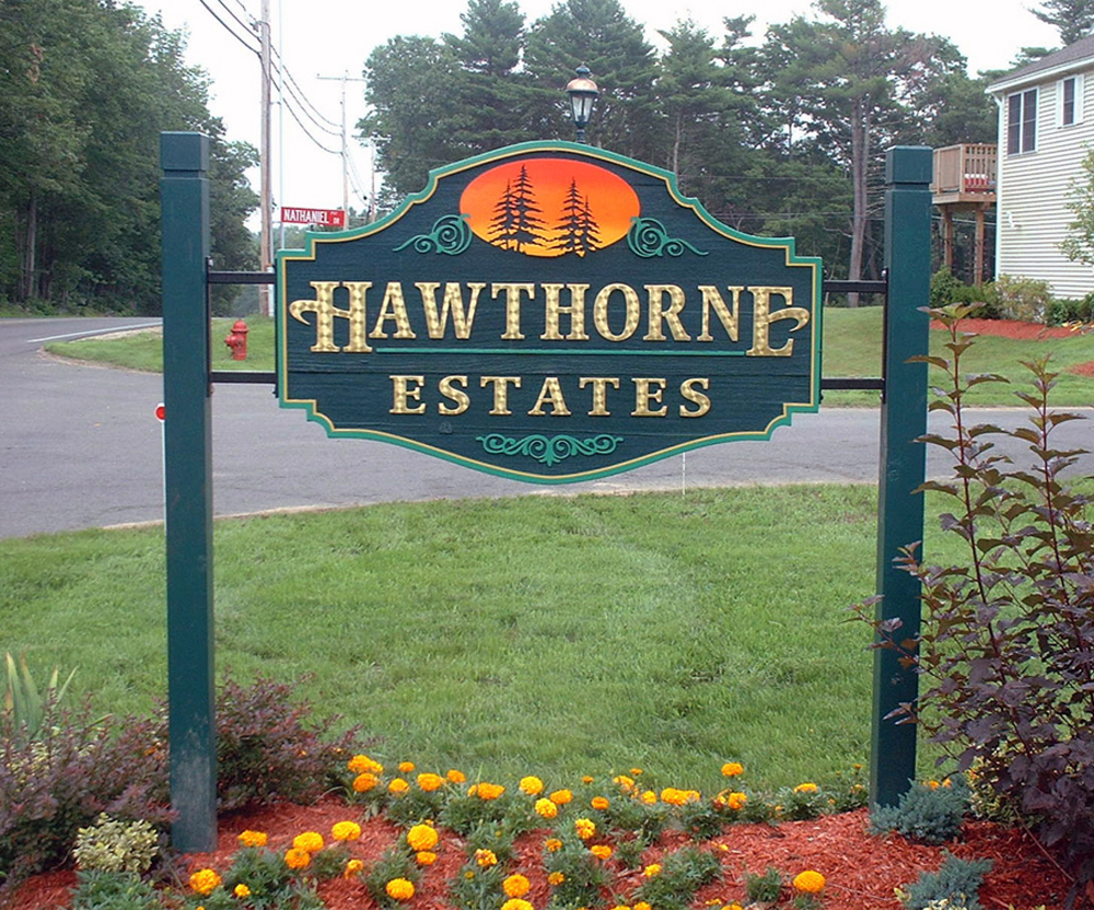NH MA Maine Seacoast Dimensional sandblasted Carved Signs Signage